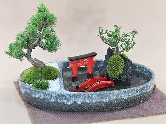 日本庭園風の器